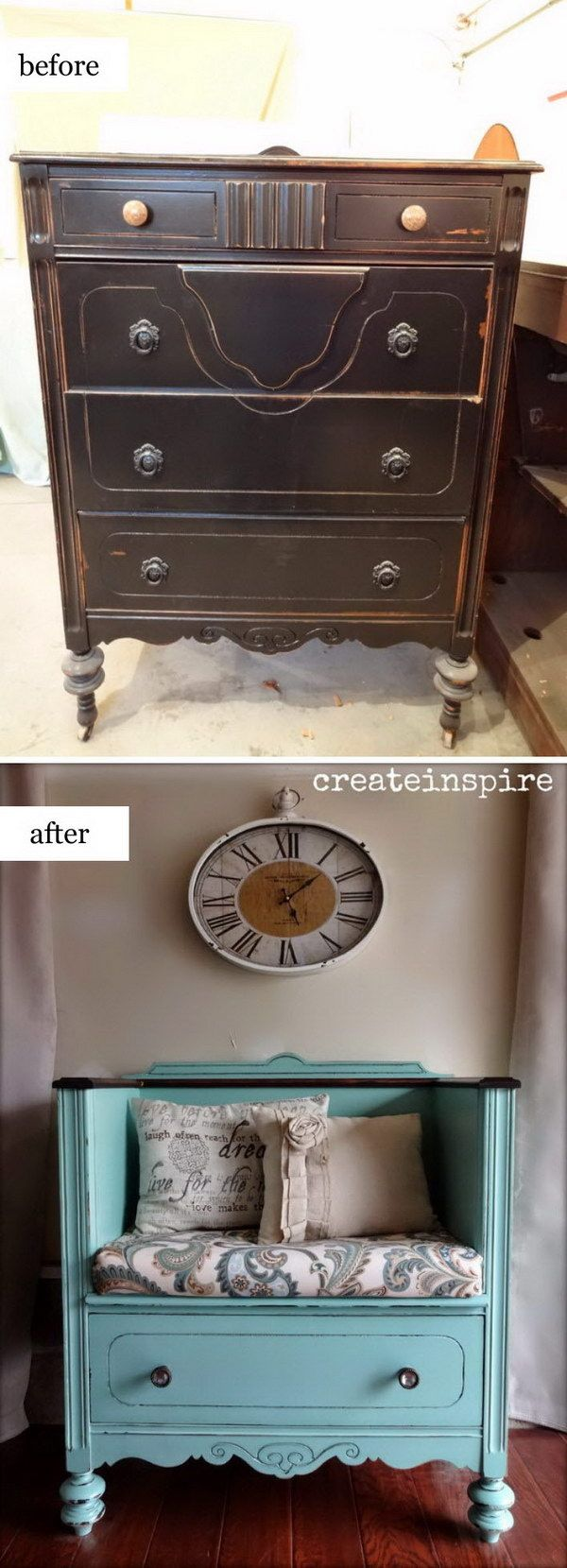 repurpose old furniture. 40 Awesome Makeovers: Clever Ways With Tutorials To Repurpose Old Furniture K