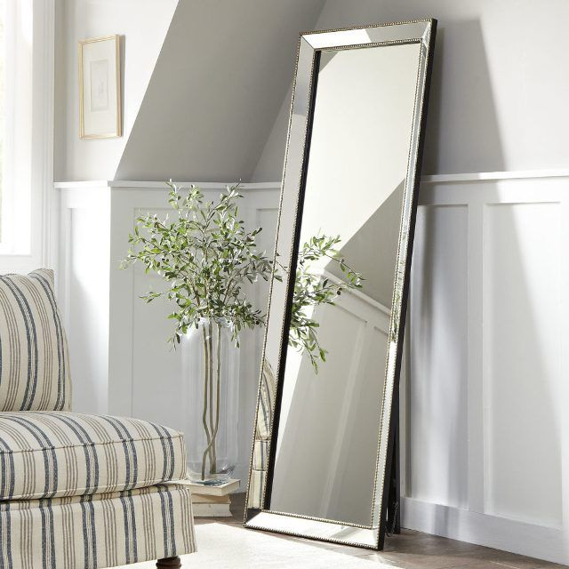 Mirror Full Length Floor Mirror With Flowers And Sofa Great Home ...