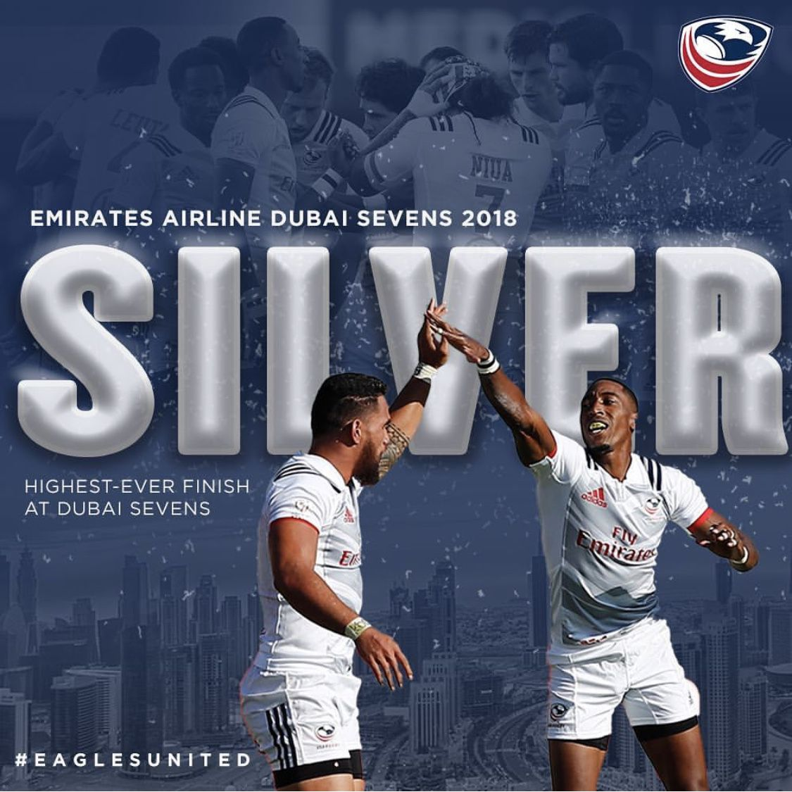 Usa 7s Wins Silver In Dubai Rugby Nations Speed Training Emirates Airline