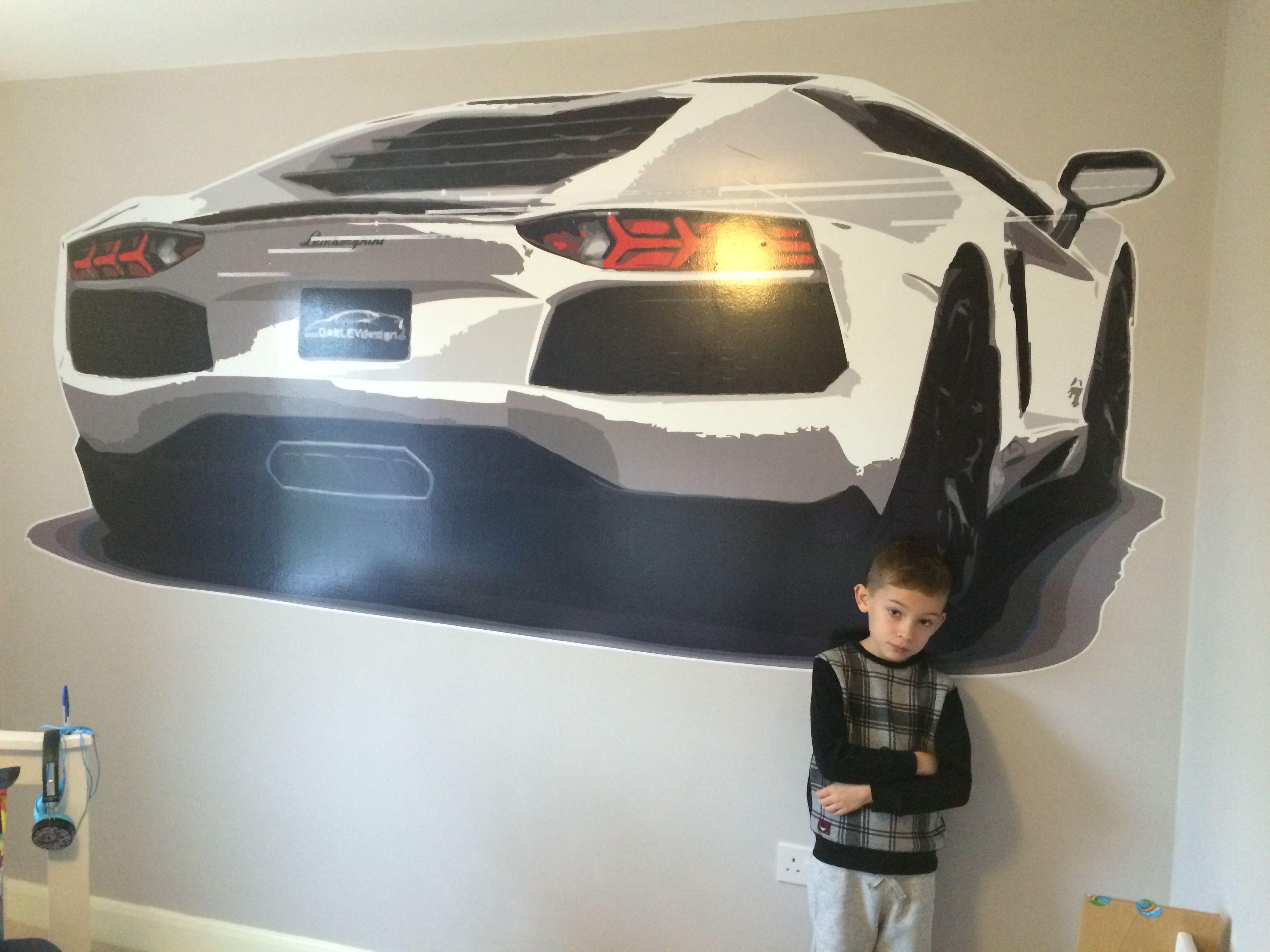 Lamborghini Aventador Giant Wall Decal Matt S Bedroom In 2019
