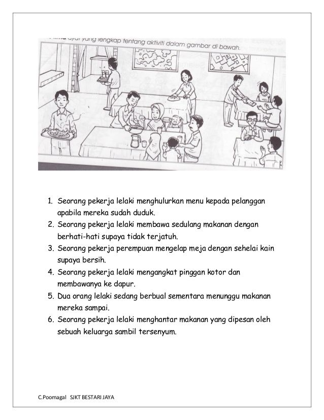 Bina Ayat Berdasarkan Gambar In 2020 Kindergarten Reading Activities Malay Language Kindergarten Reading