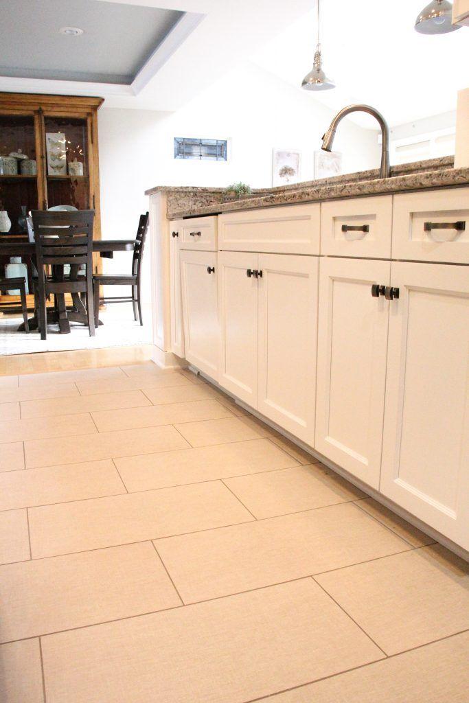 Kitchen Flooring Ceramic Tile Angora Belgian Linen Rectified