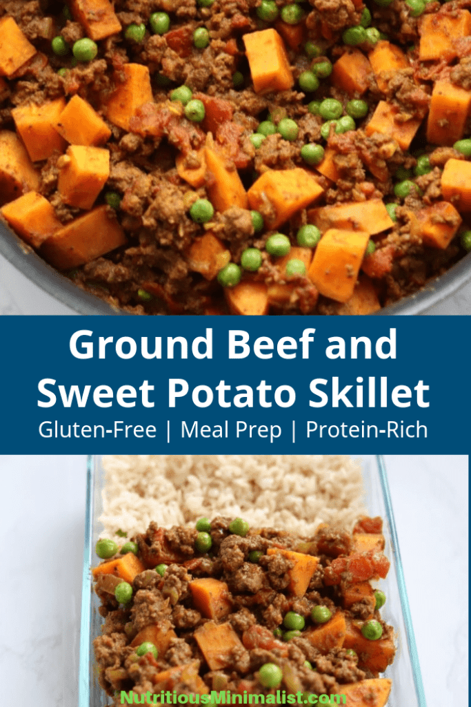 Meal Prep Ground Beef And Sweet Potato Skillet Nutritious Minimalist Recipe In 2020 Ground Beef Recipes Healthy Healthy Ground Beef Healthy Beef Recipes