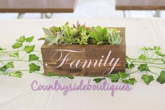 Flower box/succulents/wedding decorations/family keepsake/wooden box/home decor/indoor planter/free shipping/farmhouse/rustic decor #woodenflowerboxes