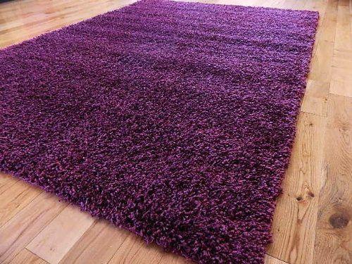 75 moderna alfombra peluda morada de 160 x 225cm que no Alfombra redonda morada