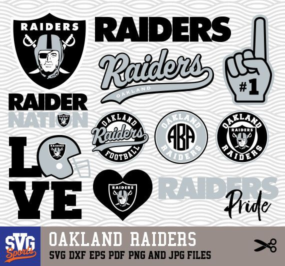 Oakland Raiders Svg Logos Monogram Silhouette Cricut By Svgsports Oakland Raiders Wallpapers Oakland Raiders Logo Oakland Raiders