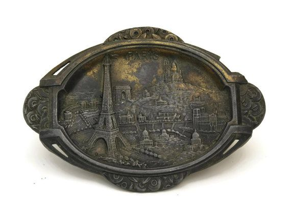 Paris Souvenir Plate with Eiffel Tower. Paris by LeBonheurDuJour