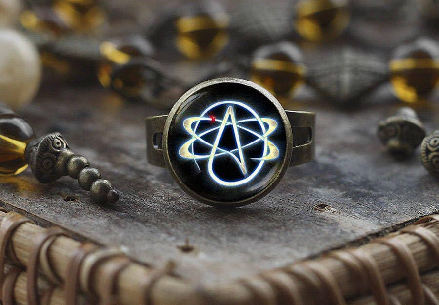 Atheist Symbol Ring Atom Ring Atheist Jewelry No Religion Ring