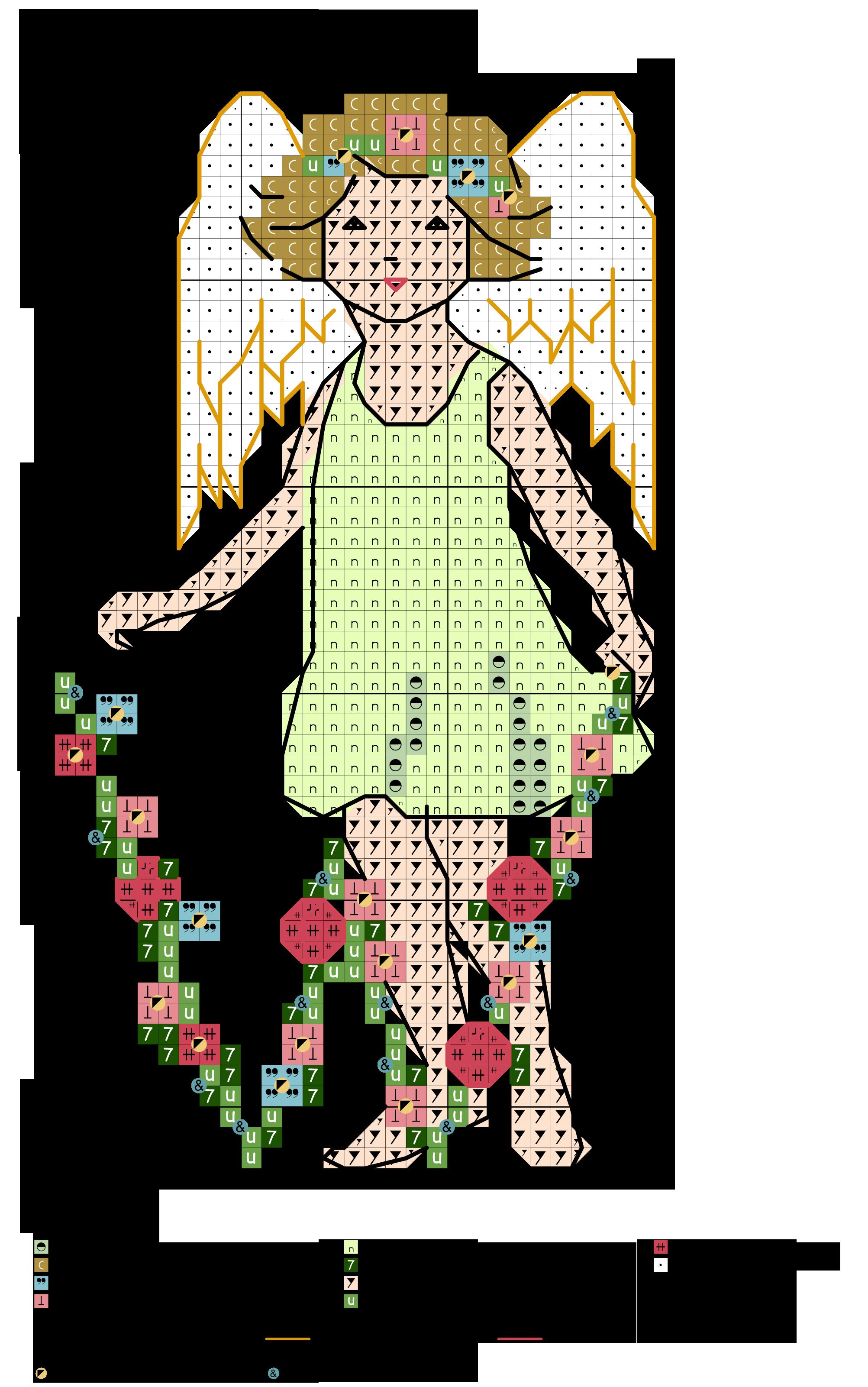 alfabeto fiorito con angioletto W
