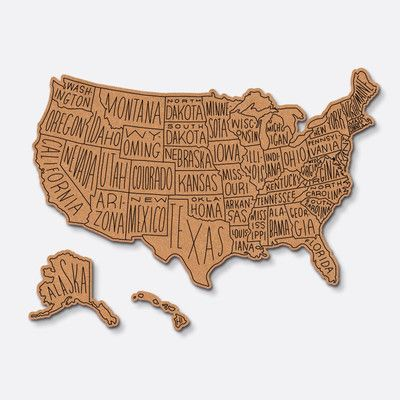 united states map cork board Actual Map In Boys Room Usa Routed Corkboard Graphic Art Aff