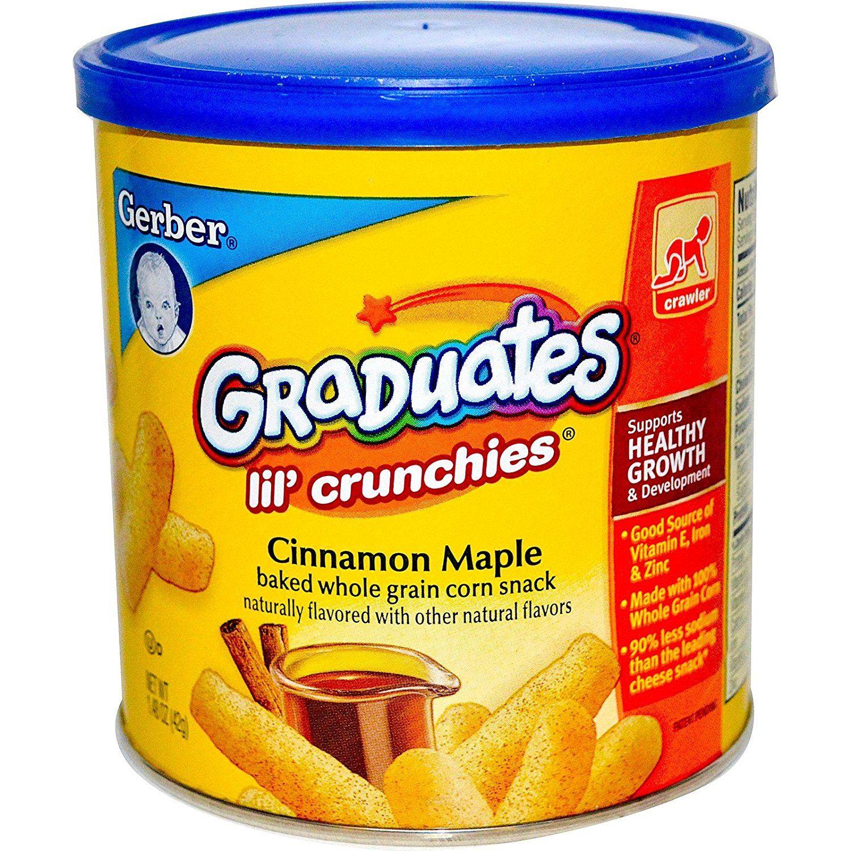 Gerber graduates lil crunchies cinnamon apple 148 oz