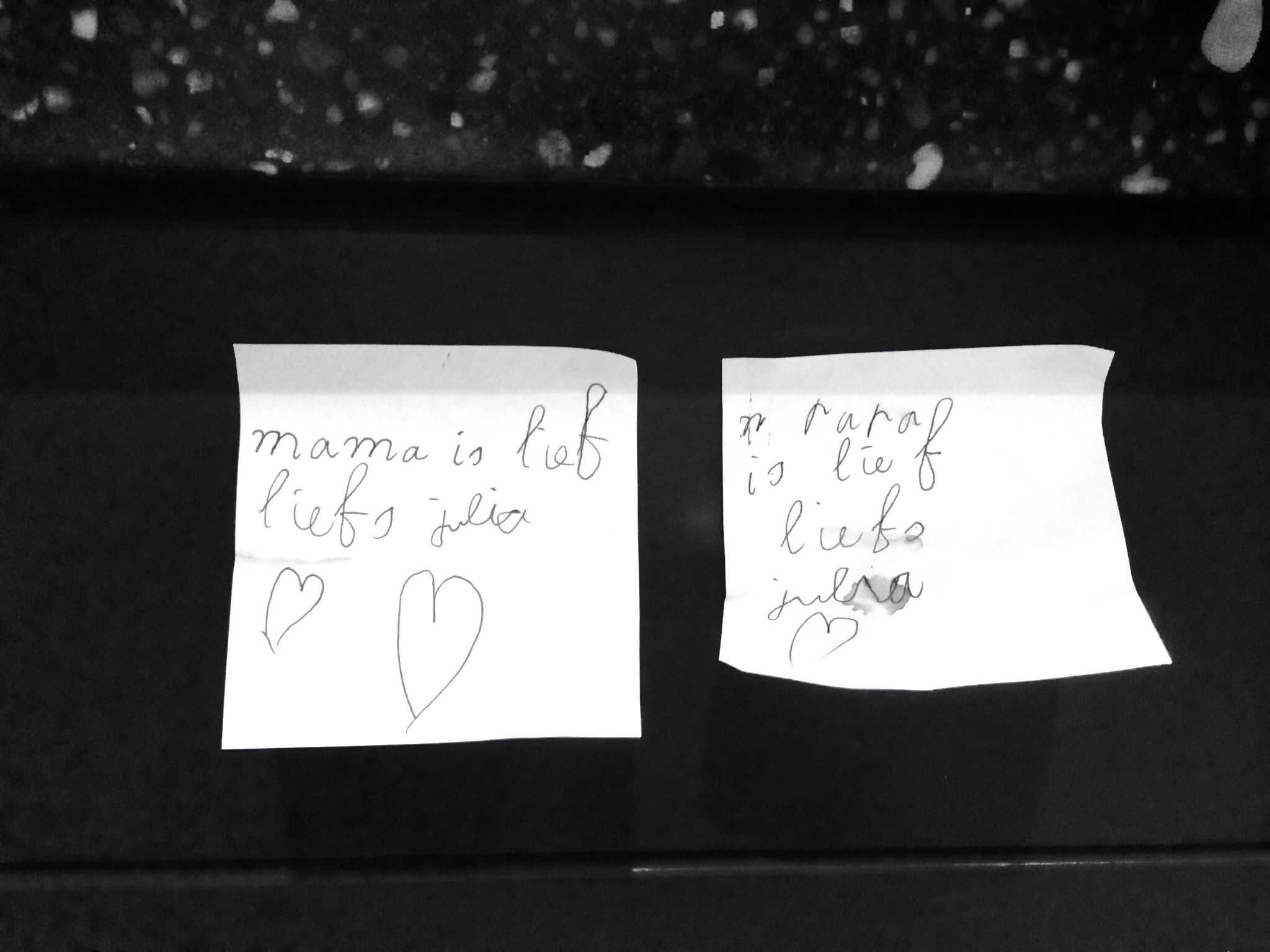Note from my daugther.....