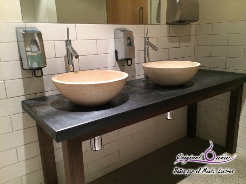 lavabos de piedra baos por el mundo en el puente areo madrid londres - Lavabos Originales