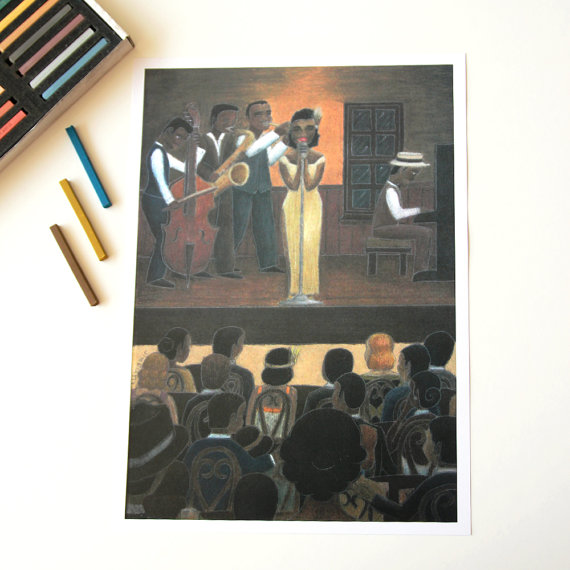 Big Poster Of Jazz Show Illustration Great Music Lovers Gift For Musicians Art Home Decor As Ho