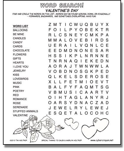 preview of word search valentine 39 s day school holiday ideas pinterest word search. Black Bedroom Furniture Sets. Home Design Ideas
