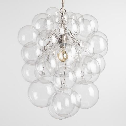 A Bold Lighting Statement With The Organic Form Of A Sculpture Our Chandelier Is Composed Of 34 Hand Blow Orb Chandelier Bubble Chandelier Bathroom Chandelier