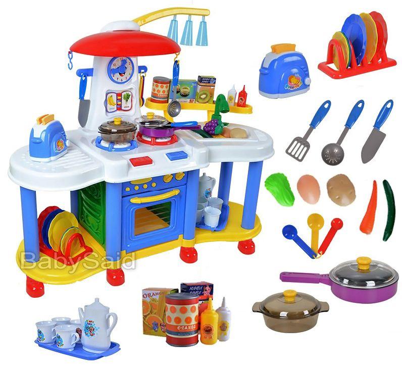 144 Zł Duża Kuchnia Dla Dzieci Kran Z Wodą światło Dźwięk