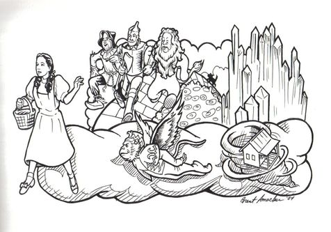 Legends Of Oz Coloring Pages