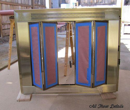 Repainting Brass Fireplace Doors Good Directions