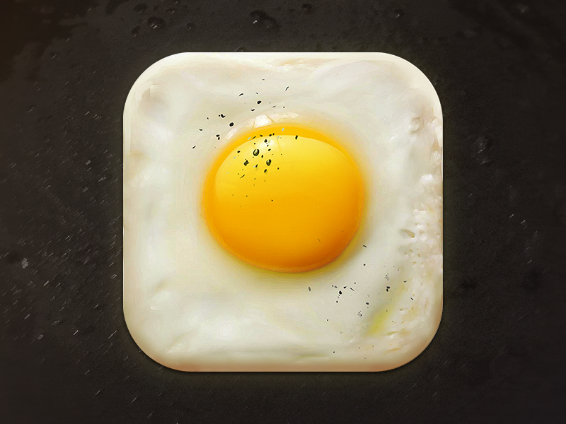 Fried Egg Icon by Creativedash