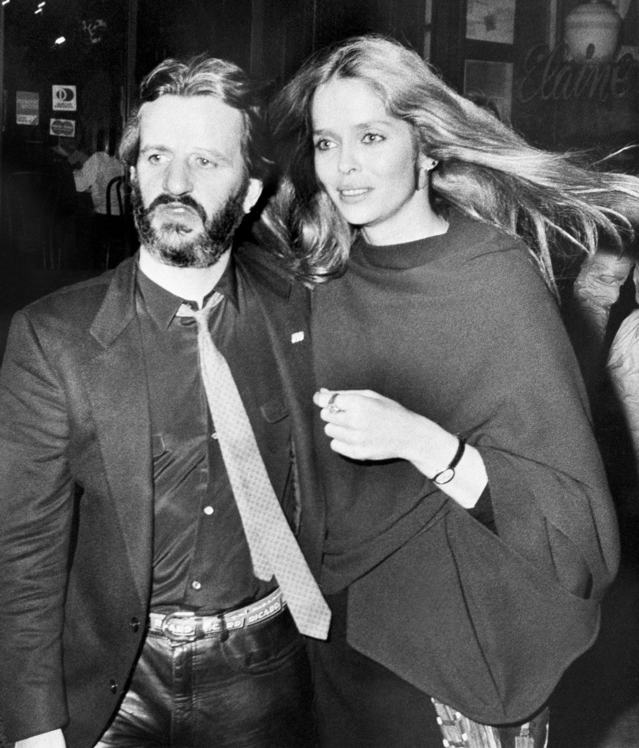 Ringo Starr and friend Barbara Bach leave a New York ...