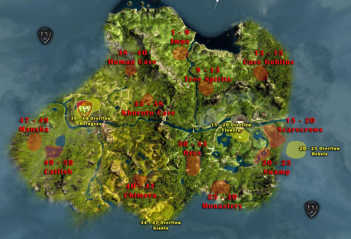 Black desert online leveling map interest misc pinterest black desert online leveling map gumiabroncs Image collections