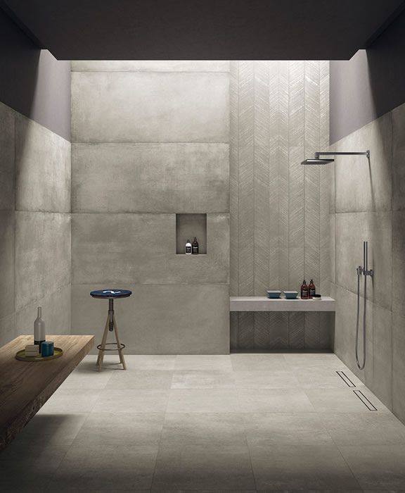 #Minimalist #bathroom Design Inspirational Modern Decor Ideas Betonfliesen  Bad, Bad Fliesen, Fliesen