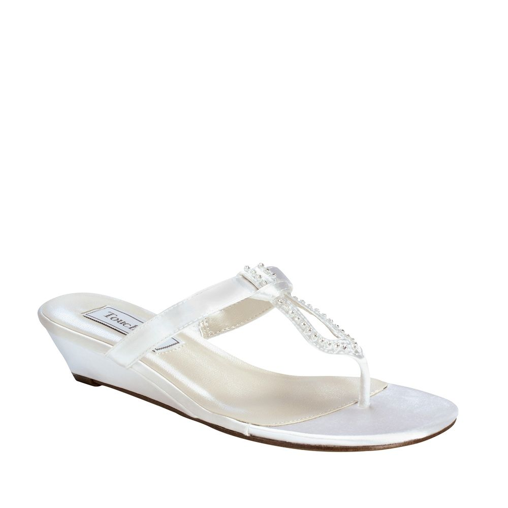 Venus White Dress Low Wedge Wide Width Shoes  c21dce74543