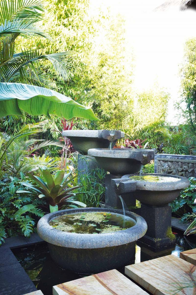 Bali-garden-water-feature | outside | Pinterest | Bali garden ...