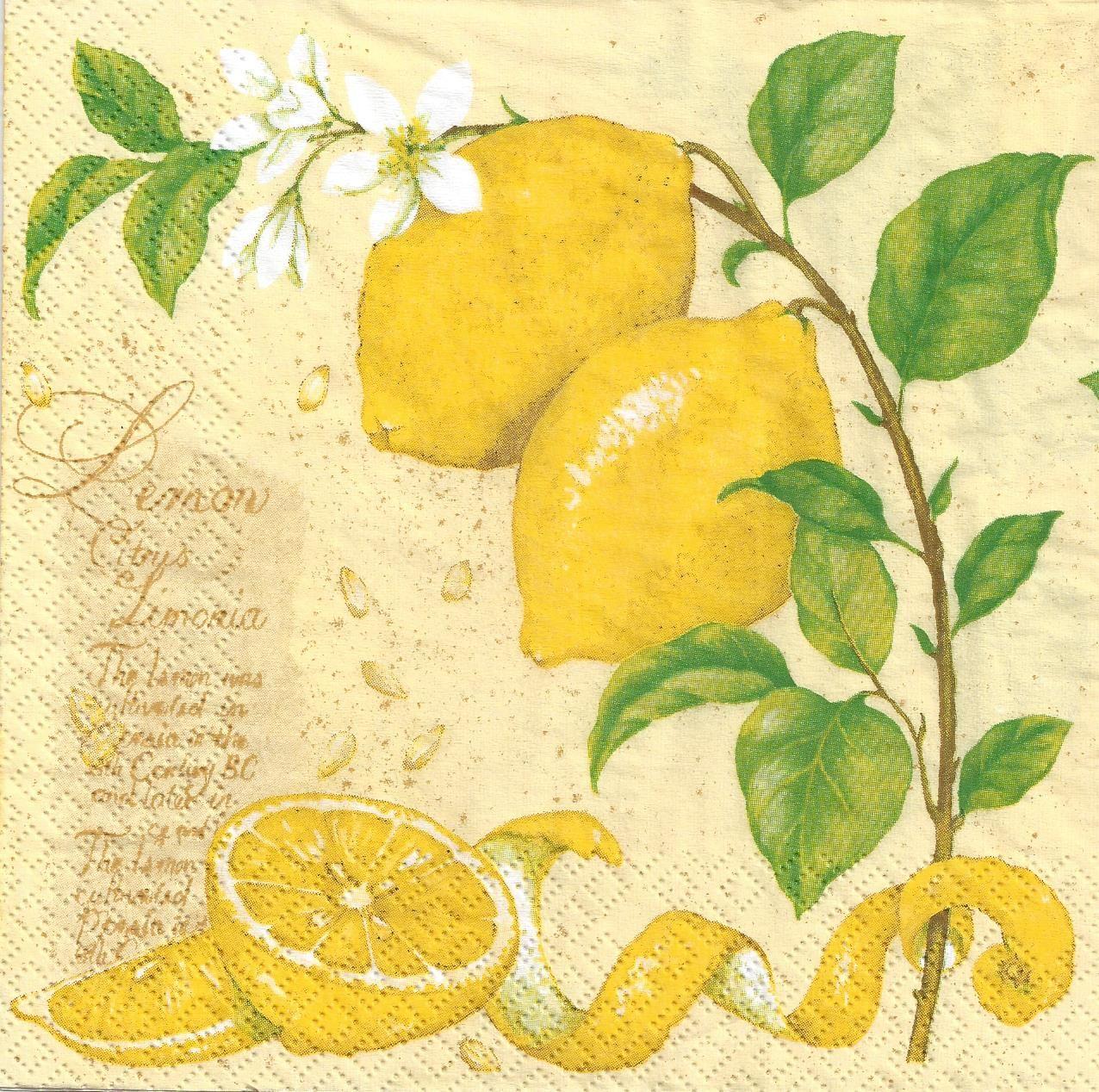 Lemons printable