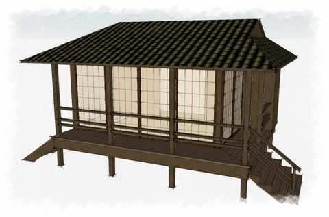 Meditation Hut For The Garden... So I Can Meditate In Solitude. :