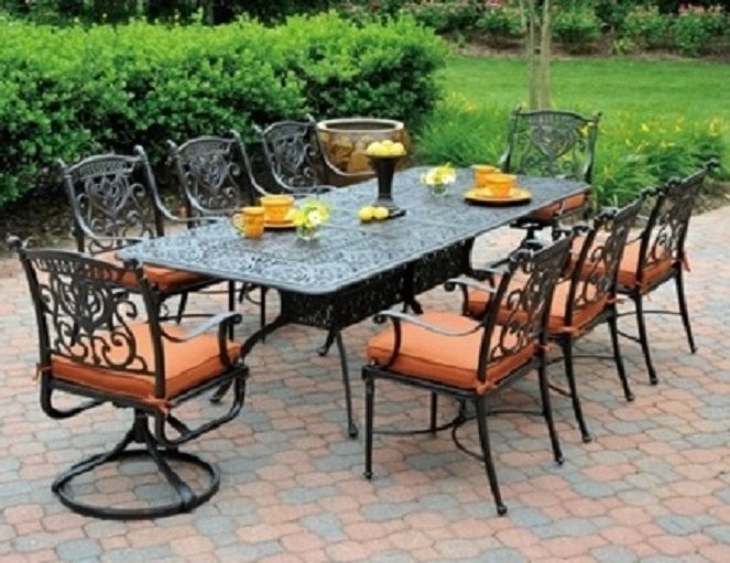 Wonderful Grand Tuscany By Hanamint 8 Seat Luxury Cast Aluminum Patio Furniture  Dining Set