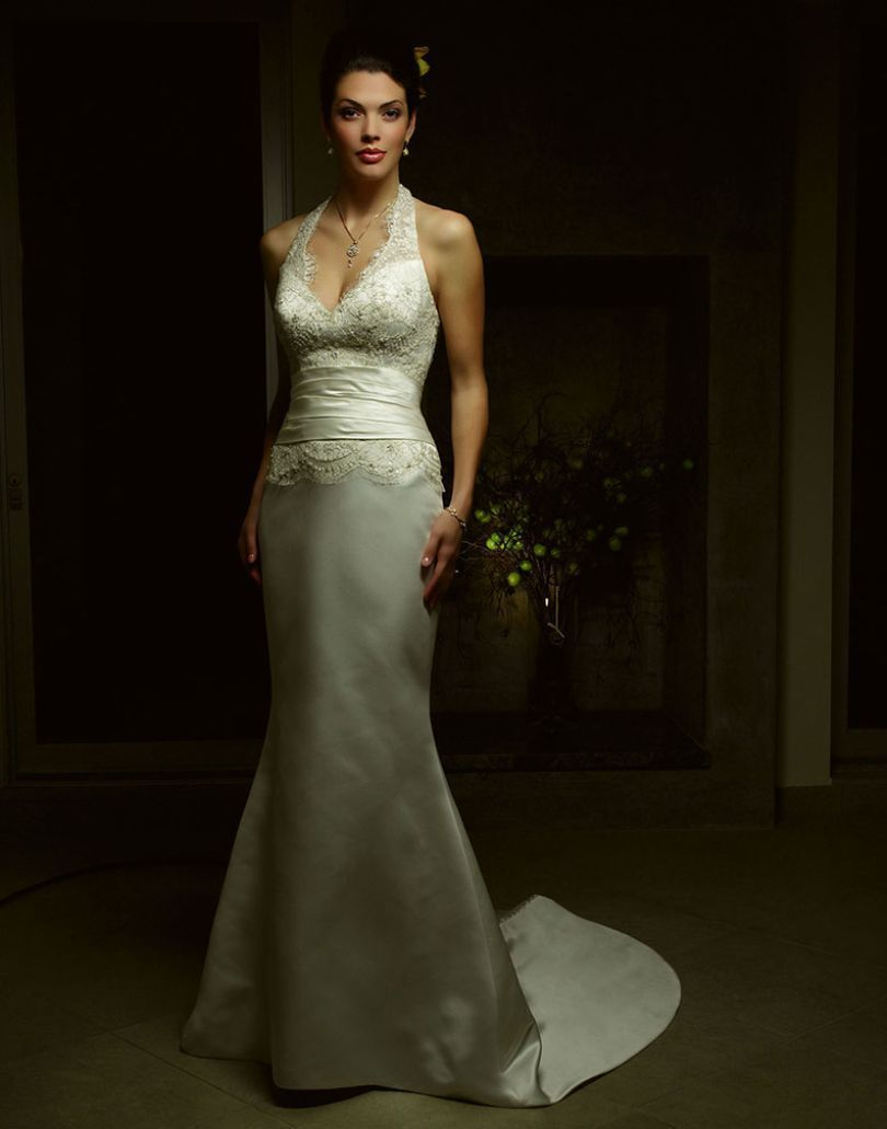 Nice awesome new casablanca wedding dress size ivorygold lace