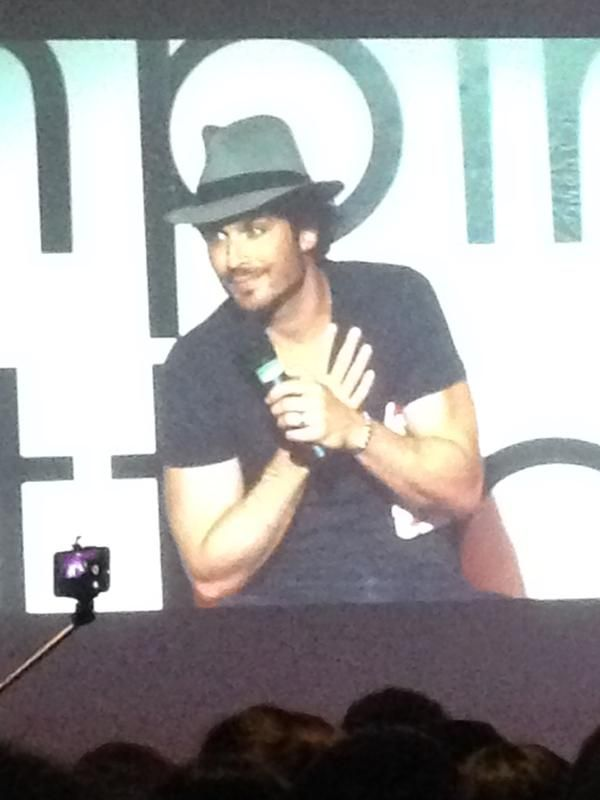 Ian Somerhalder thanking his fans at Vampire Attraction Con in Brazil 2015 (05/02/15)