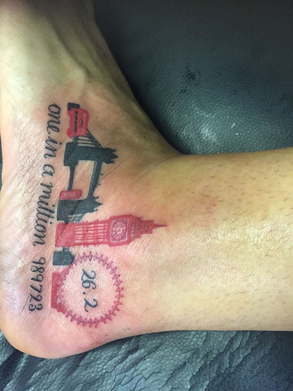 london marathon 2016 one in a million i 39 m a runner now pinterest tattoo marathon tattoo. Black Bedroom Furniture Sets. Home Design Ideas