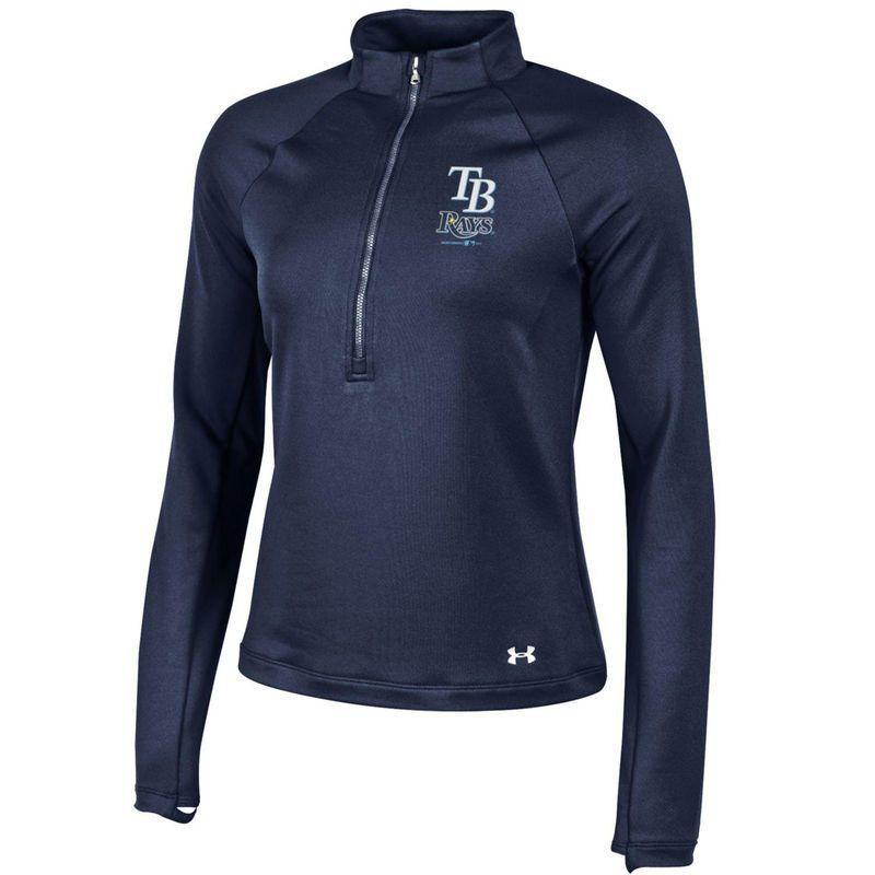 Tampa Bay Rays Under Armour Women s Team Logo Half-Zip Performance Jacket -  Navy 13122dbfa