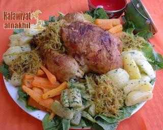 الدجاج معمر بالشعرية الصينية 3