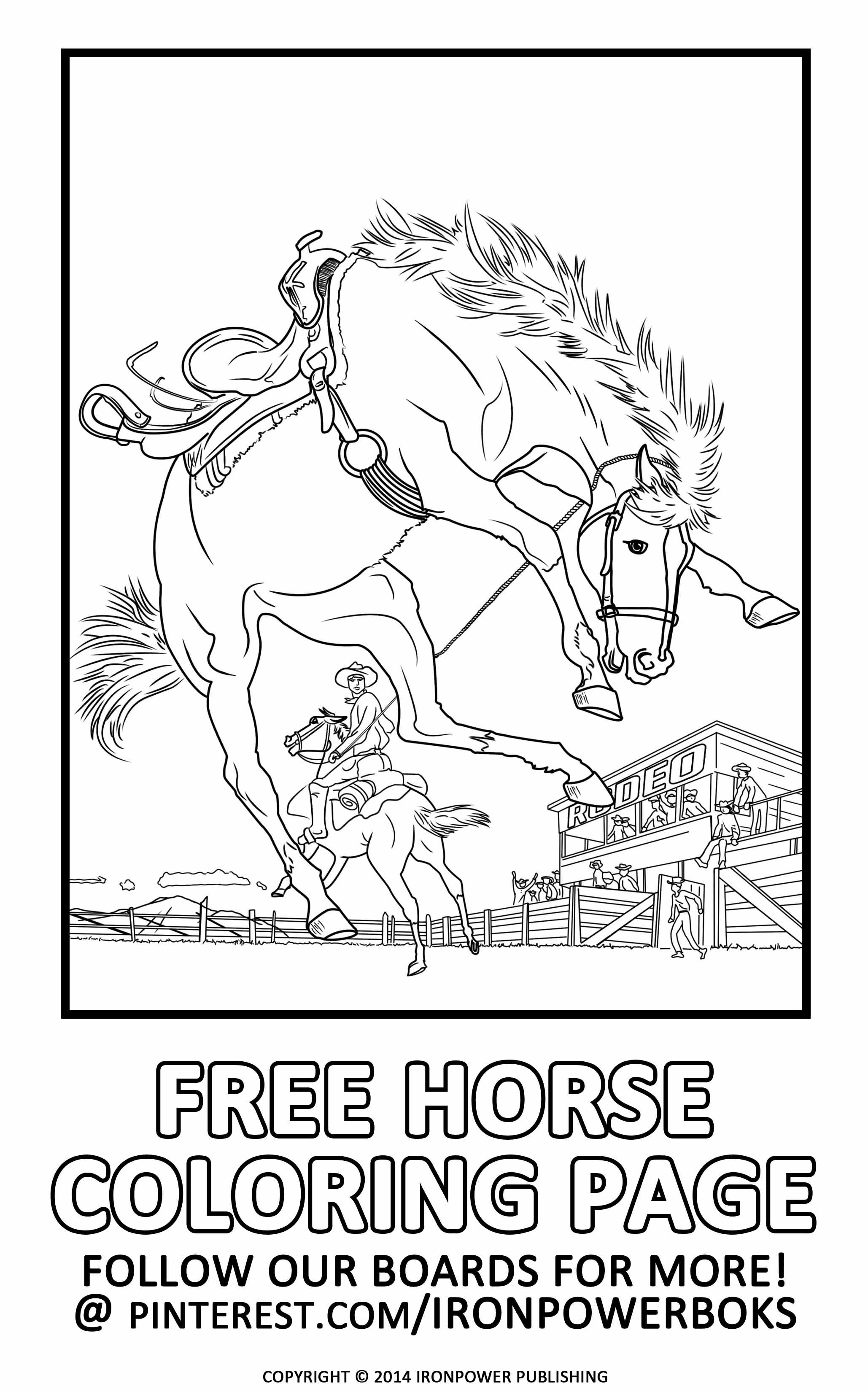 Free horse coloring pages for kids and adults a very detailed