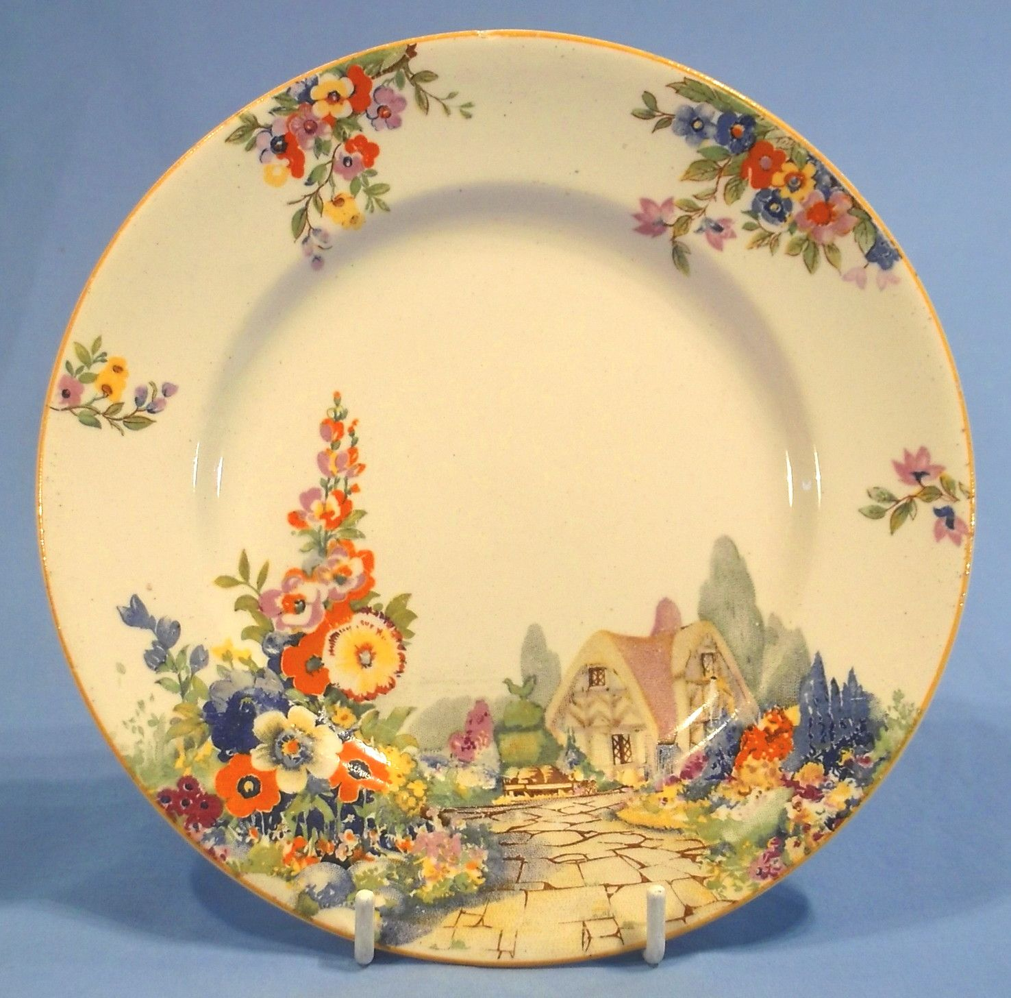 country plates 1920s 1930s - Google Search | Vintage China Plates ...