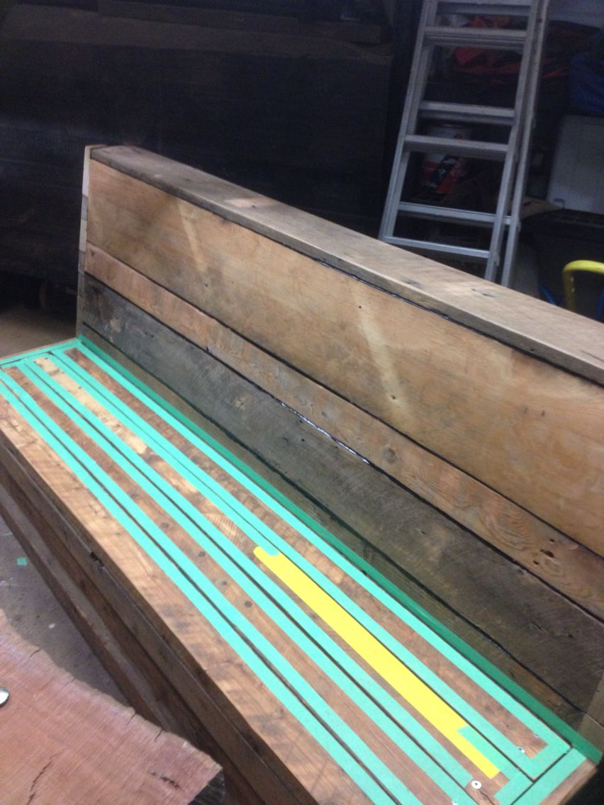 Bench seats being built