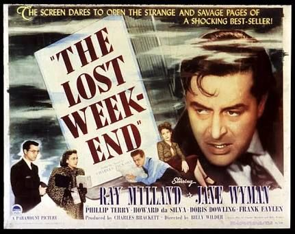 Winner 1945: THE LOST WEEKEND (1945). Producer: Charles Brackett; director: Billy Wilder; distributed by Paramount Pictures. The desperate life of a chronic alcoholic is followed through a four day drinking bout.
