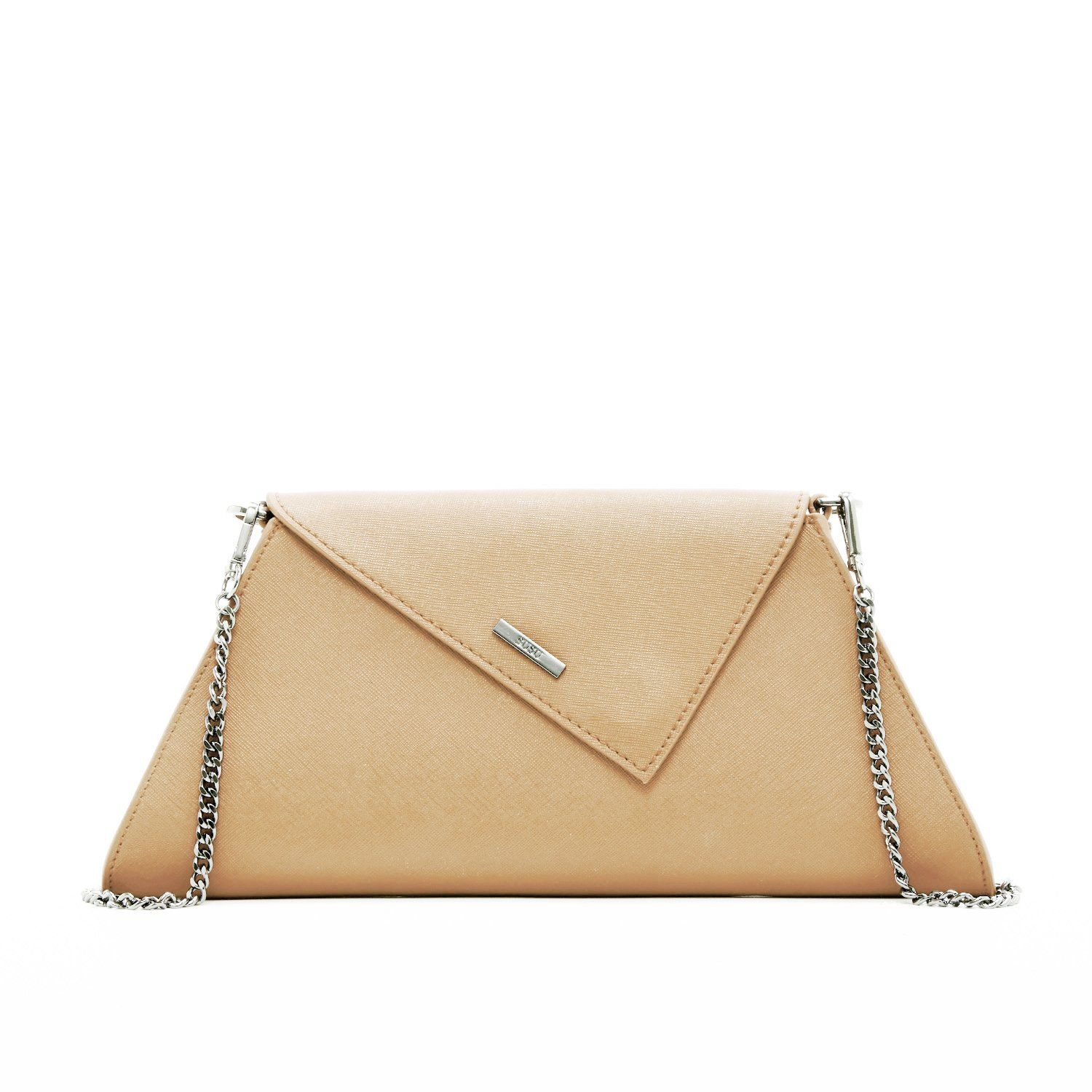 Angelica Chain Nude angelica nude leather clutch | products | leather clutch