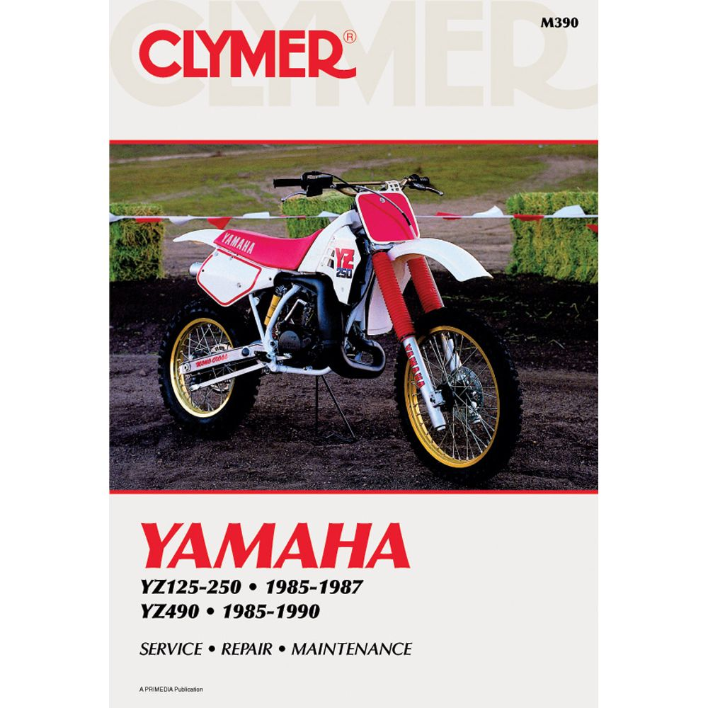 clymer yamaha yz125 yz250 1985 1987 yz490 1985 1990 manuals rh pinterest com 1990 YZ250 Parts 1985 Yamaha YZ 250