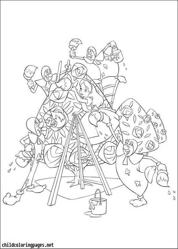 Alice In Wonderland Coloring Pages 07 Http Www Kidscp Com