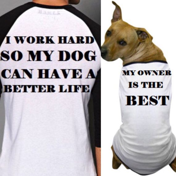 Matching T Shirt For Owner And Dogmatching Shirts For Human And Pet