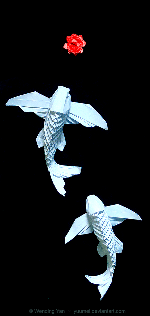 Origami Winged Koi By Yuumeideviantart You Can Make These Art Process 245653598