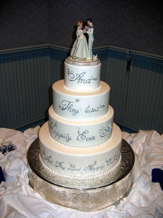 Four tier Cinderella and Prince Charming wedding cake