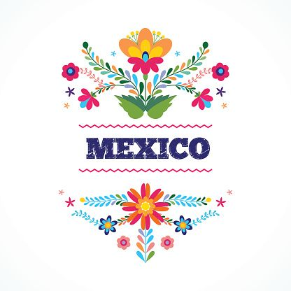 Mexico Flowers Ornament Vector Illustration Vector Id545590024 416 416 Flores Mexicanas Dibujos Para Bordar Mexicano Bordado Mexicano Patrones