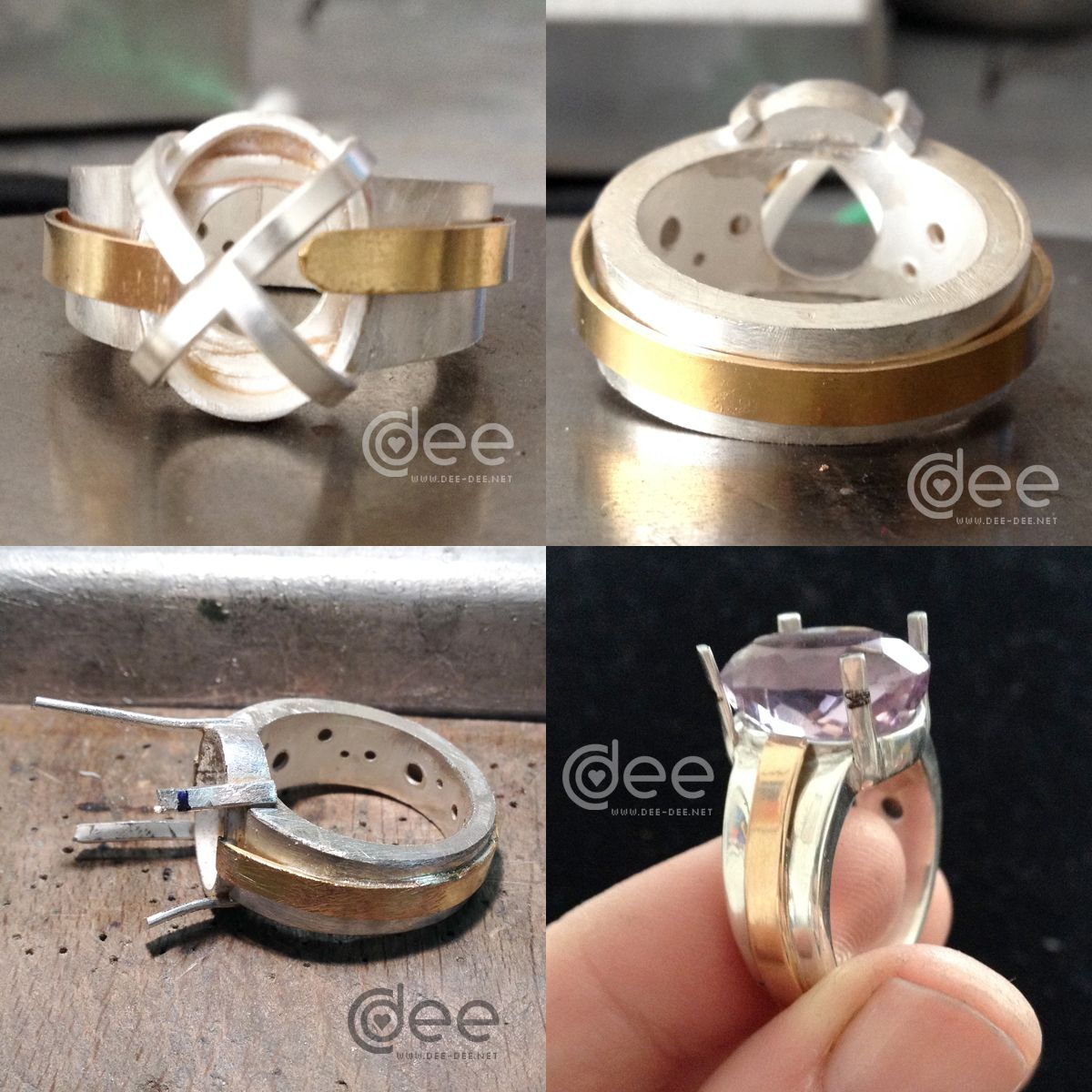 As My First Piece For The Jewellery Professional Course I Made A Hollow Ring Main Difference To Previous Is That This One Has An Inner