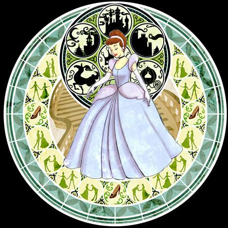 Cinderella Stained Glass - disney-princess Fan Art
